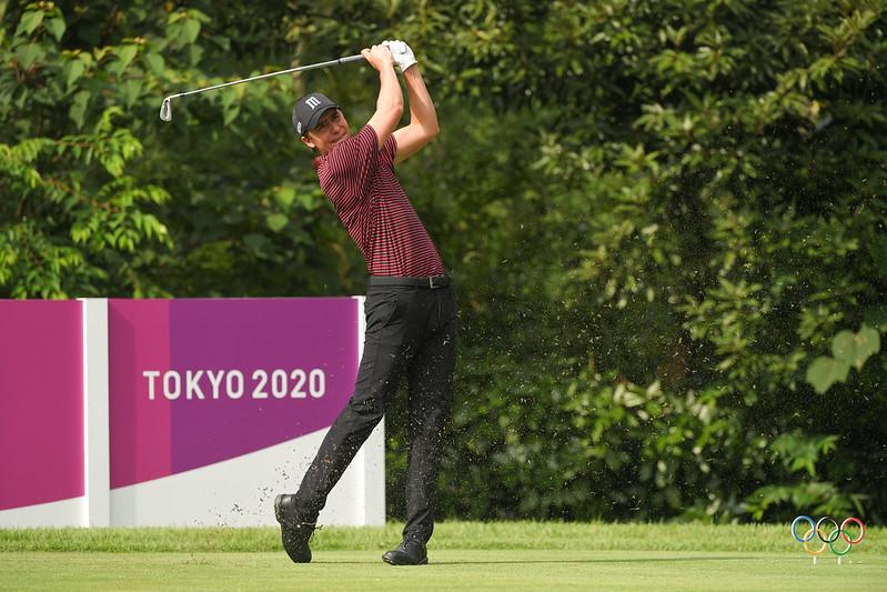 El golfista Carlos Ortiz en la pelea por las medallas en Tokio 2020